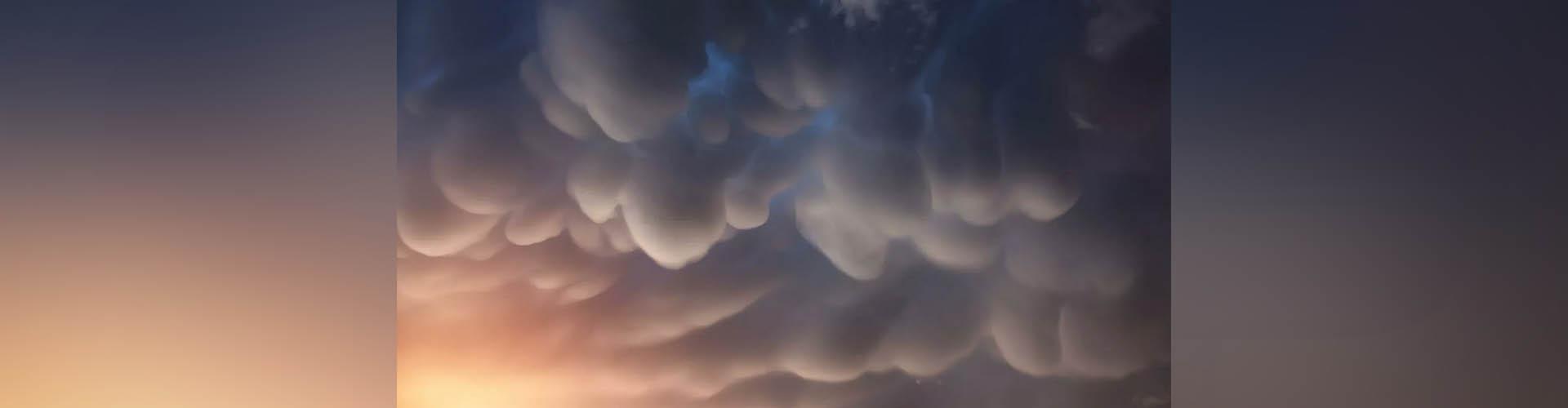 (VIDEO) Una rara nube mastodóntica aparece en el cielo de China